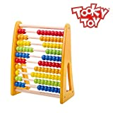 Tooky Toy - Wooden bead abacus. Ideal maths toy to learn how to count, suitable from 18 months