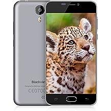 "Blackview BV2000 - Smartphone libre de 5.0"" HD Teléfonos Móviles Gratis con Dual Sim 4G Smartphone Barato (Dual Cámara 5MP + 2MP, MTK6735 Quad-Core,8GB ROM,2400mAh Batería, Android 5.1) (Gris)"