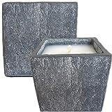 Der Perlenspieler® -Kerzenschmelzer-Fackel-Typ Granit- 12 cm x 12 cm-Für Terrassen UND Innenräume geeignet-mit Anleitung und Filzfüßen, 12 cm x 12 cm