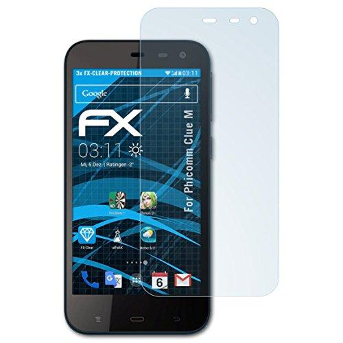 atFolix Schutzfolie kompatibel mit Phicomm Clue M Folie, ultraklare FX Bildschirmschutzfolie (3X)