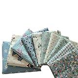 Souarts 10 Stück Stoffpakete DIY Kleine Blume Muster Baumwolltuch Patchwork