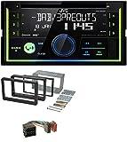 caraudio24 JVC KW-DB93BT Bluetooth DAB CD MP3 2DIN USB Autoradio für Alfa Romeo 159 Spider Brera ab 05 Navi