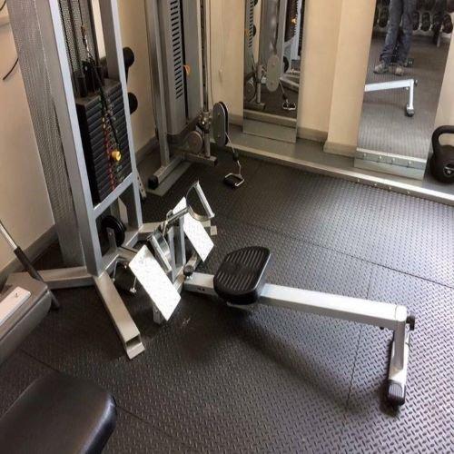 Sonderangebot | 2x Heavy Duty 17mm massive schwarz Gummi Gymnastikmatte | Checker gemustert | groß arkmat Bodenbeläge für Garage oder kommerziellen Gym Gebrauch Gymnastikmatte Heavy Duty