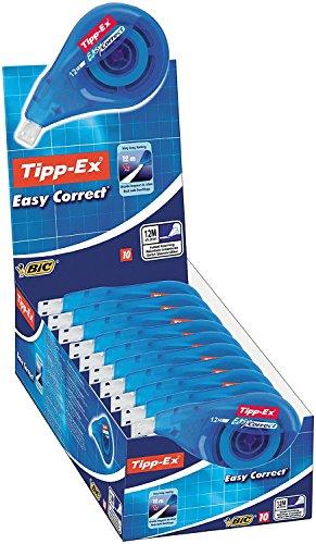 Preisvergleich Produktbild Tipp-Ex Easy Correct Korrekturroller zum seitlichen Korrigieren / Korrekturband 12 m x 4,2 mm / 10er Pack in praktischer Displaybox
