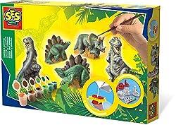 SES Creative Gießen und anmalen Dinos Gips-& Mal-Set, Multi