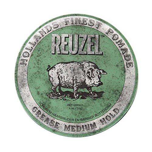 REUZEL Pomade Green Grease Medium Hold, 1er Pack (1 x 113 g) -