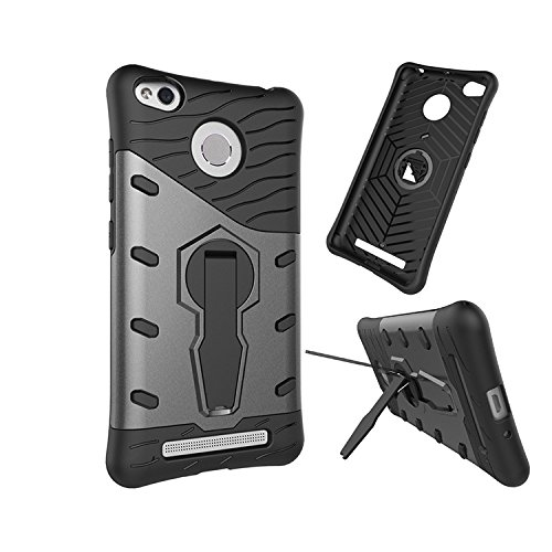 Chevron Xiaomi Redmi 3S Prime Back Cover - Galaxy Black [Sniper 360° Rotate Stand Version 3.0 Ultimate Warrior Case] [Air Cushion Technology - Shock Proof] [Dual Layer Impact Protection Kick Stand] For Xiaomi Redmi 3S Prime