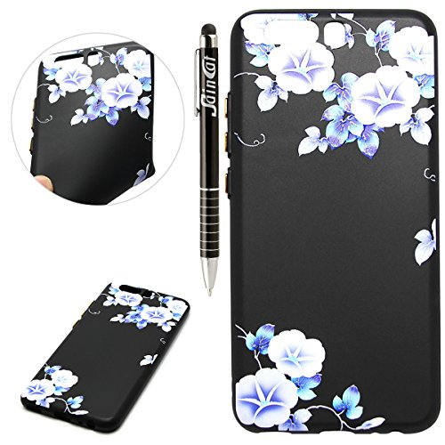 Custodia Huawei P10 Plus, Huawei P10 Plus Cover Silicone, SainCat Cover per Huawei P10 Plus Custodia Silicone Morbido, Creative Design Custodia Cover Flower Ultra Slim Silicone Case Ultra Sottile Morbida TPU Cover Case Shock-Absorption Cover Gel Anti Scivolo Custodia Protettiva Cover Gomma Case Caso Ultra Thin Slim Protettiva Anti-scratch Skin Cover Shell Case Coperture Bumper Cover per Huawei P10 Plus-Ipomea
