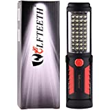 WOLFTEETH 36+5 LED luz que acampa, manos-libres garaje trabajo linterna Auto, Garage, emergencias, taller con ajuste de soporte, con gancho e imán Base 7192