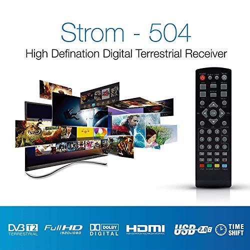514d89gpP4L - Strom 504 Decodificador Digital Terrestre - TDT / DVB T2 / Full HD / HDMI / Receptor TV / USB / H.265 HEVC / TDT Television / DVB-T2 / 4K