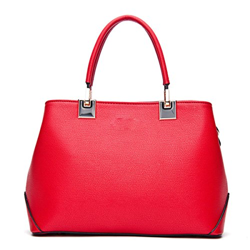 Mme Pu Sac à Main Taille 30 * 14 * 21.5cm red