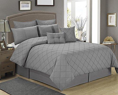 8Stück Manchester grau Muster kann hineingesteckt Tröster set-queen King Size (Queen), Polyester-Mischgewebe, grau, Queen -