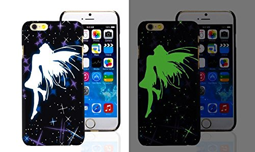 RONNEY'S Luminous PC BLACK Hard Case for Apple Iphone 5/5S/5SE FAIRY FAIRY1