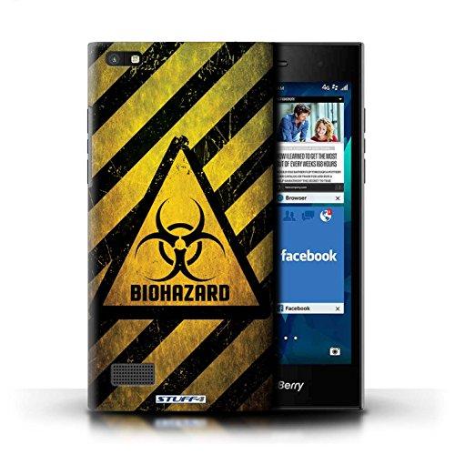 Stuff4® Hülle/Hülle für BlackBerry Leap/Biohazard Muster/Warnung Zeichen Kollektion