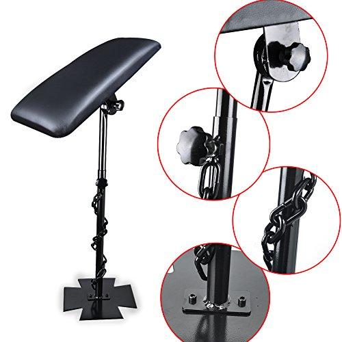Vanyda Professional Tatouage Bras Repose-pied Studio Chaise réglable Portable d'alimentation Tabouret kit Noir