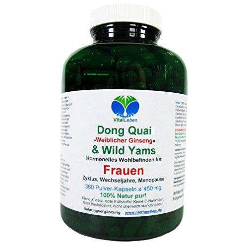Dong Quai & Wild Yams für Frauen, 360 Pulver-Kapsel a 450mg, #25737