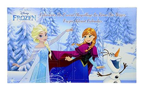 Markwins Disney Frozen Die Eiskönigin Beauty-Adventskalender 2017, 1er Pack (Nagellacke, Lippenstifte, Lipgloss, Lidschatten, Haargummis)