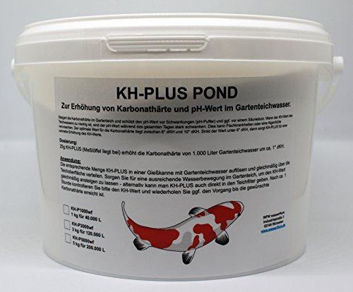 WFW wasserflora 5 kg KH-Plus Pond - erhöht Karbonathärte & stabilisiert pH-Wert, für 200.000 Liter Teich-Wasser -