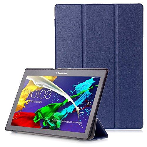 """Lenovo Tab 2 A10 / Tab3 10 Plus / Tab3 10 Business Hülle - Schutzhülle mit Auto Aufwachen / Schlaf Funktion für Lenovo Tab 2 A10-30 / A10-70 / Tab3 10 Plus / Tab3 10 Business 10.1\"""" Tablet, Dunkelblau"""