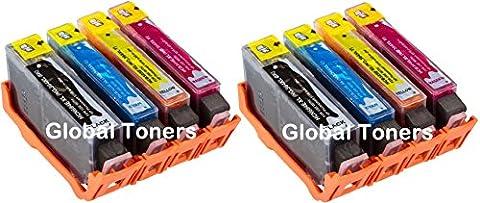 8XL Global Toners HP Combo Pack Lot de cartouches d'encre