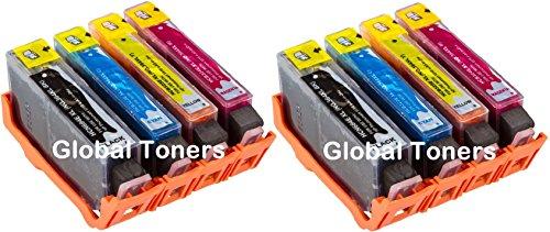 8XL Global Toner HP Combo Pack Kompatibel 364X L Tintenpatronen–NEUE Tinten, die...