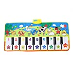 Garosa Musical Dance Mat Baby Early Education Music Piano Keyboard Play Mat Activity Gym Blanket Learn Singing Funny Toy Gift for Kids Toddlers