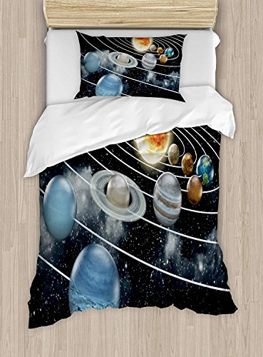 Fantasy Star Bettwäsche Sets für Jungen, Bettbezug Set für Mädchen, beinhaltet 1Bettlaken 1Spannbetttuch und 2Kissenbezüge Twin Size Color20