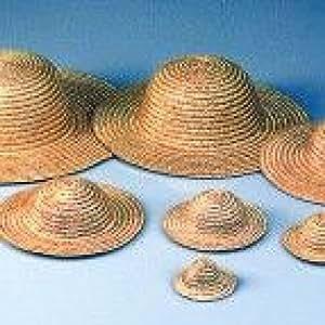 Chapeau décoratif en paille, diamètre extérieur 8,5 cm, naturel clair