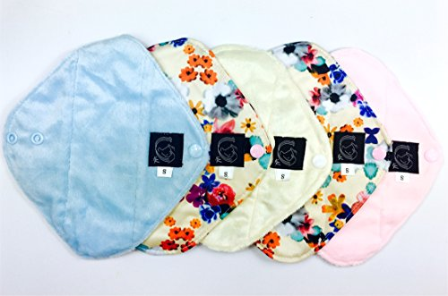 panty-liners-springtime-collection-5-pack-cloth-sanitary-pads-csp-panty-liner-light-flow-19cm-long-x