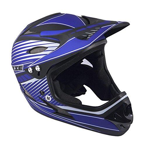Author Fahrradhelm Fullface Rookie Größe M 57cm-58cm BMX Dirt blau/schwarz
