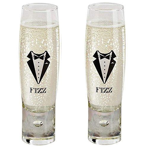 Durobor Alternato Bubble Base Lot de 2 pour homme Fizz sans pied coupes de champagne