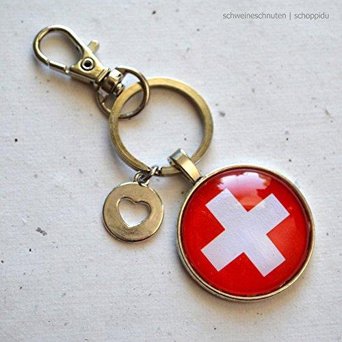 Schlüsselanhänger Schweiz Schweizer Flagge