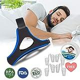 Dispositifs Anti Ronflements, Solution Anti Ronflements Réglable Mentonnière Snore Stopper pour Aide Sommeil Réduction Ronflement Mentonnière for Hommes Femmes