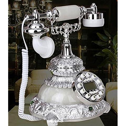 25 * 23 * 28 cm resina creativa telefono fisso di casa vintage giada argento antico radio ornamenti decorativi