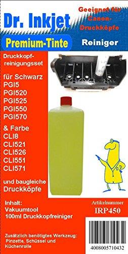 Preisvergleich Produktbild IRP450 - Dr.Inkjet Druckkopfreinigungsset für die Canon Drucker mit den PGI5/PGI520/PGI525/PGI550/PGI570 und CLI8/CLI521/CLI526/CLI551/CLI571er bzw. baugleiche Druckerpatronen