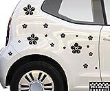Kleb-drauf 18 Blumen/Orange - glänzend - Aufkleber zur Dekoration von Autos, Motorrädern und allen anderen glatten Oberflächen im Außenbereich; aus 19 Farben wählbar; in matt oder glänzend
