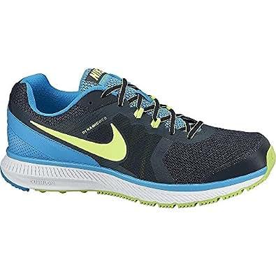 Nike Men's Zoom Winflo Chaussures de course à pied homme-Bleu marine/bleu/vert Citron/blanc-Taille 8