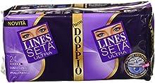 Lines Seta Ultra Quadripack - Compresas ultraabsorbentes, largas, con alas (96 unidades)