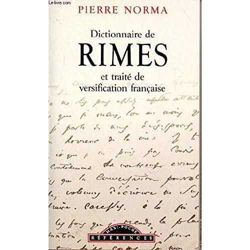 Dictionnaire de rimes et traité de versification française