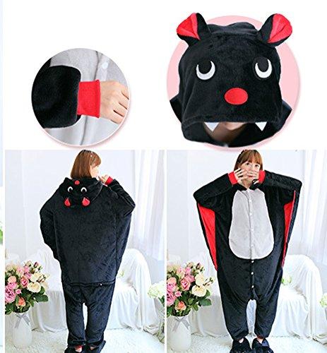 Arkind Unisexe Animaux Pyjama adulte Combinaison Nuit pour Enfant Halloween Cosplay Costume Pyjama Cadeau Anniverssaire Noël chauve-souris