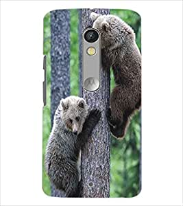 MOTOROLA MOTO X PLAY CUTE ANIMALS Designer Back Cover Case By PRINTSWAG