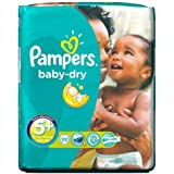 Pampers Baby Dry couches Taille 5  + pack de transport 22 par lot de 1