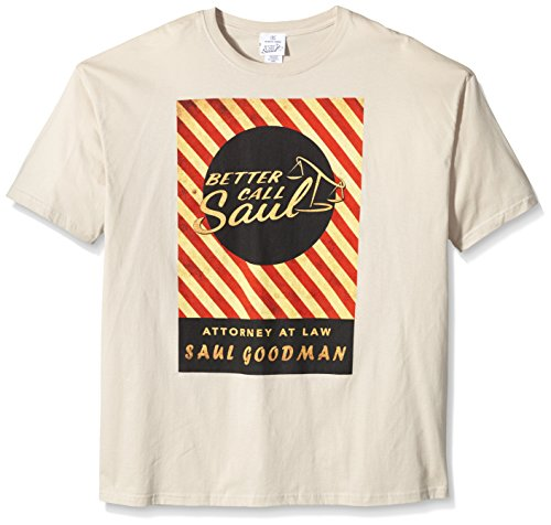 plastic-head-better-call-saul-matchbox-t-shirt-col-montant-manches-courtes-homme-ecru-skin-large-tai
