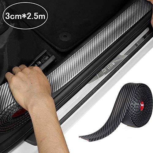 Auto Gummi Stoßstange Spoiler Kantenschutz - STYLINGCAR Universal Kohlefaser Türkantenschutz Rammschutz Biegsam Aufkleber für Autos Lkw