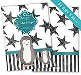 Mutterpasshülle 3-teilig Creative Royal Schutzhülle niedliche Schwangerschaft Geschenkidee personalisierbar mit Namen (Mutterpass personalisiert, Pinguin)