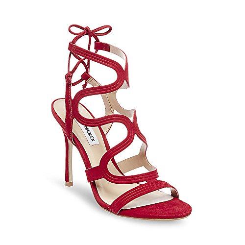 Steve Madden Ava Red Nubuck Sandals - Sandali Rossi Pelle Scamosciata Red