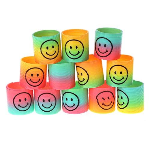 SimpleLife 36 Piece Magic Spring, novità Mini Colorful Rainbow Kids Toy per Party Filler