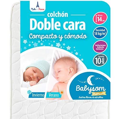 Babysom   Colchón Cuna Bebé Doble cara   60 x 120