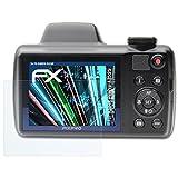 atFoliX Schutzfolie kompatibel mit Kodak PixPro AZ525 Panzerfolie, ultraklare & stoßdämpfende FX Folie (3X)