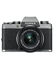 "Fujifilm X-T100 w/XC15-45mm Lens Kit Mirrorless Digital Camera (Silver) with 3.0"" TFT LCD"